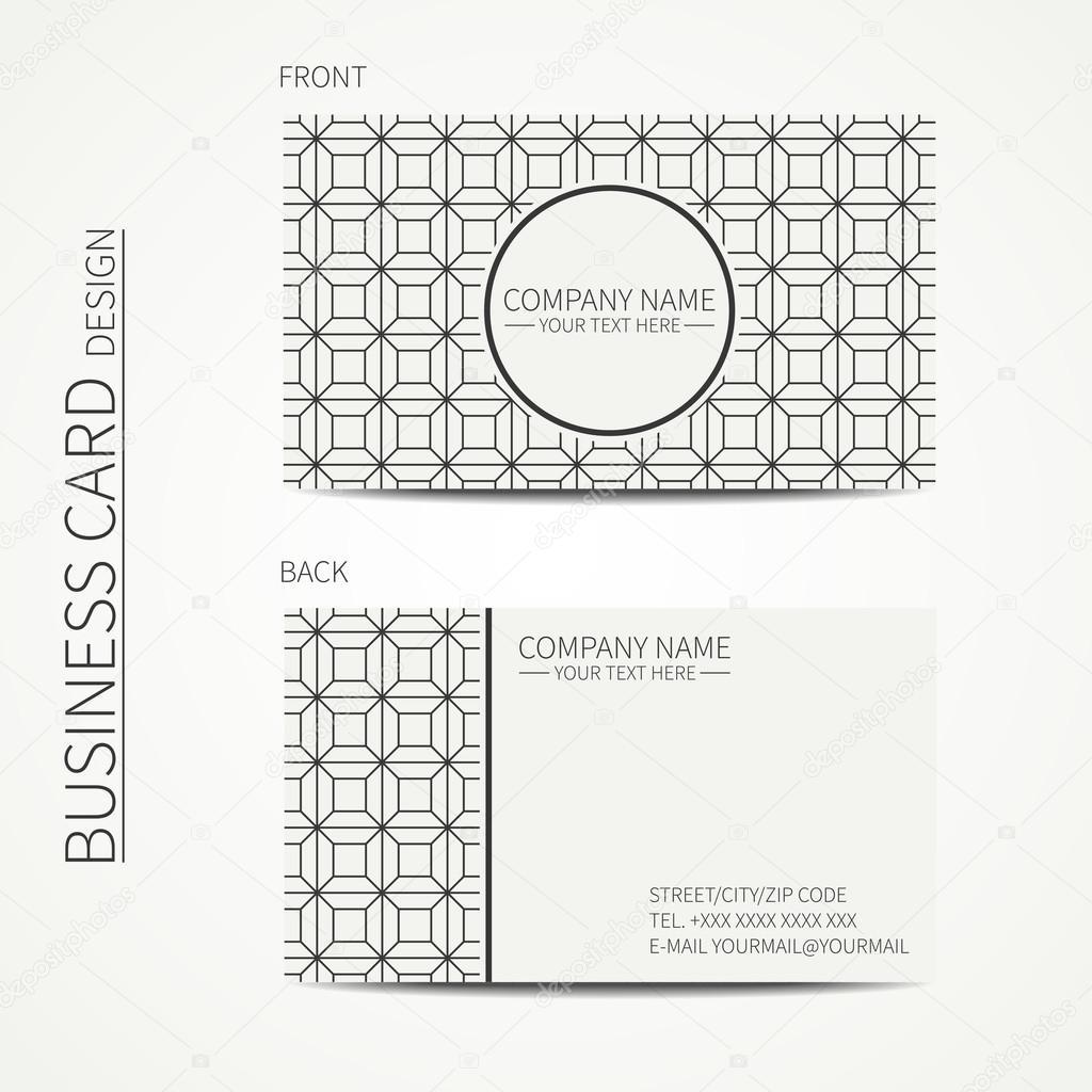 Plantilla de tarjetas monocromo de cubo geométrico para su diseño ...