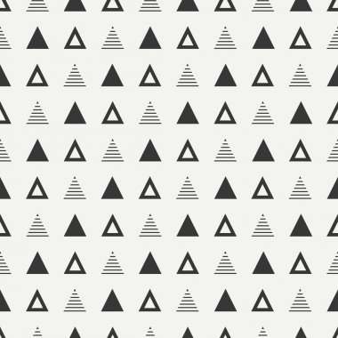 Geometric line monochrome abstract hipster seamless pattern with triangle. Wrapping paper. Scrapbook paper. Tiling. Vector illustration. Background. Graphic texture for your design, wallpaper.