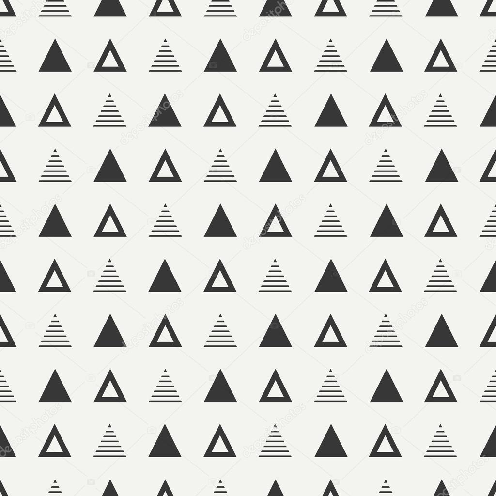 Motif sans soudure de lignes g om triques hipster abstrait monochrome avec tr - Papier peint avec motif ...