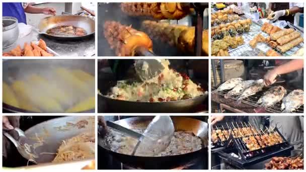 sestřih ulic thajské potravin