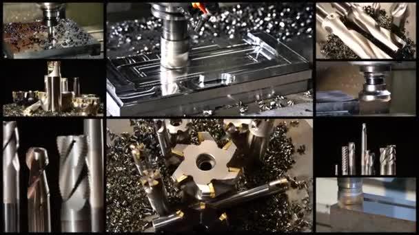 frézovací stroje koláž