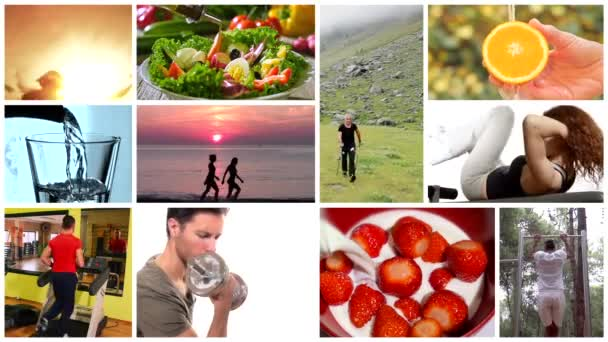 Healthy life montage