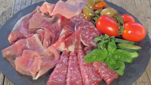 Italian Cured Meat Platter Rotating
