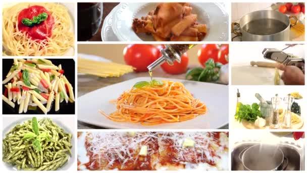 italské těstoviny koláž