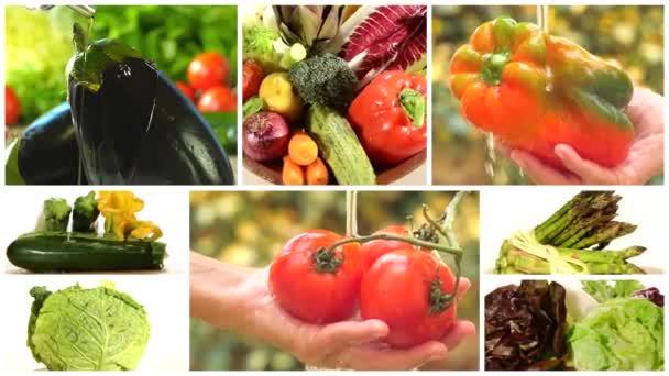 ízletes zöldség-kollázs