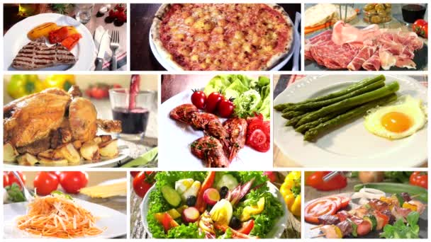 Various delicious food recipes collage