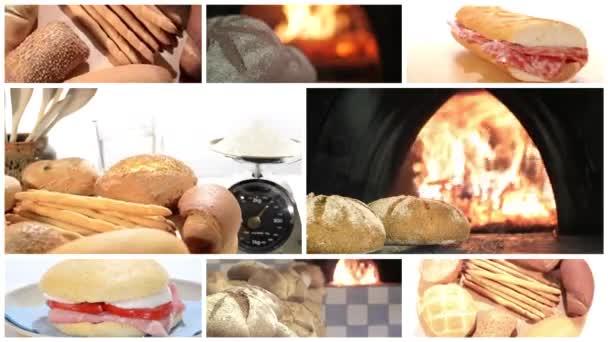 Tradiční chléb koláž