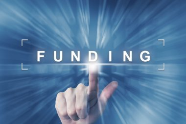 hand clicking on financial funding button