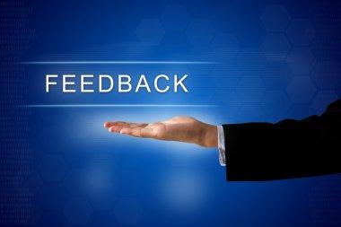 feedback button on virtual screen