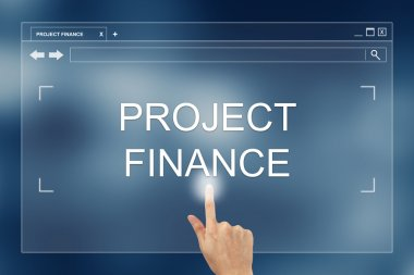 hand press on project finance button on website