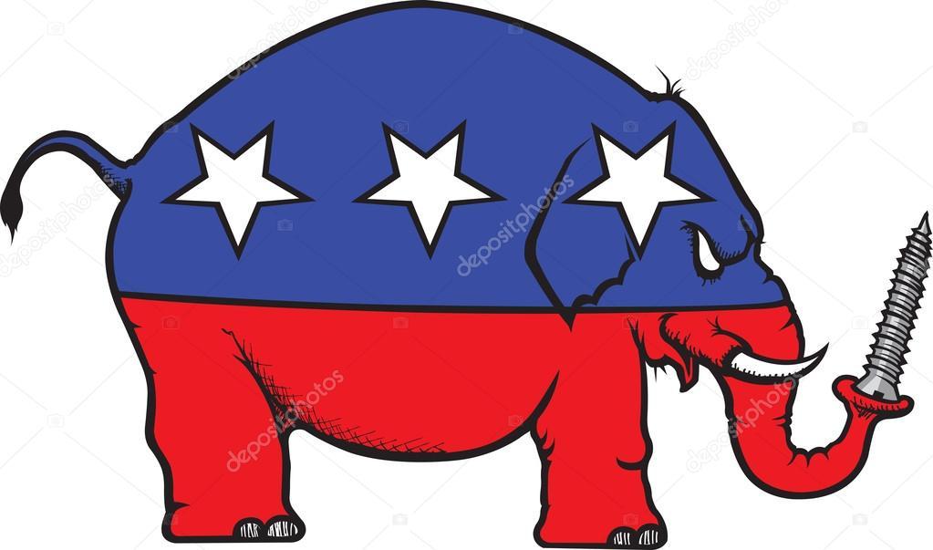 gop mean elephant stock vector toonerman 63240323 rh depositphotos com republican elephant vector free republican elephant vector clip art free