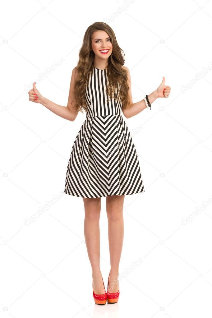 Vestidos elegantes de rayas