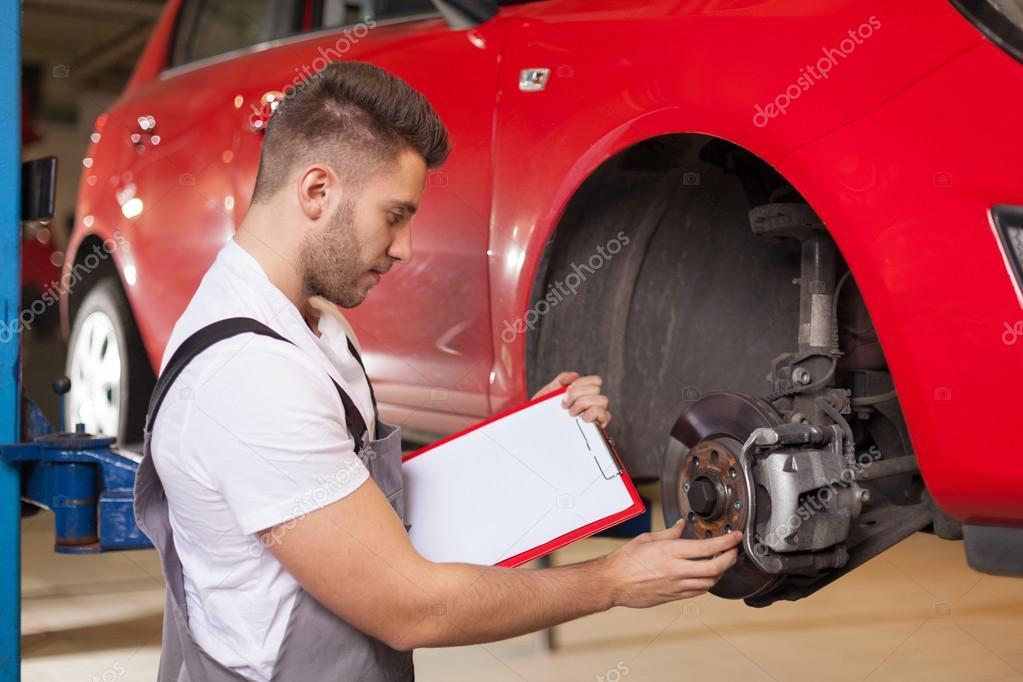 Checking a car brakes