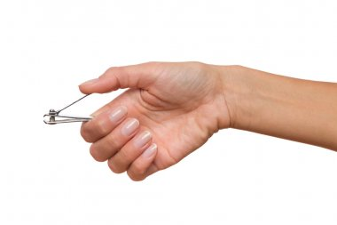 Pliers in woman's hand