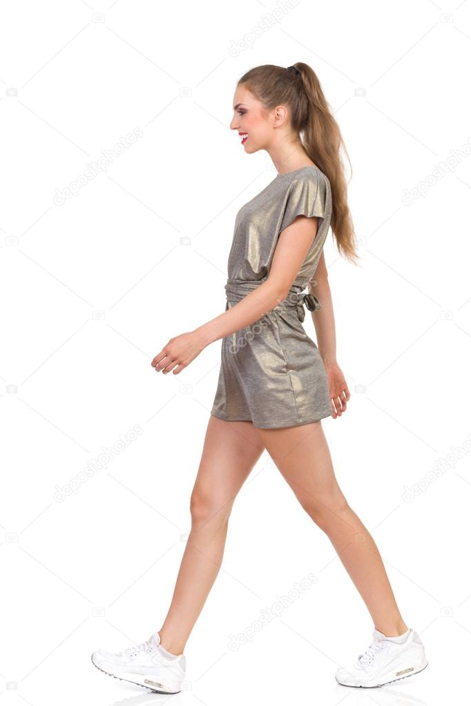Woman Walking Side View — Stock Photo © studioloco #81877114