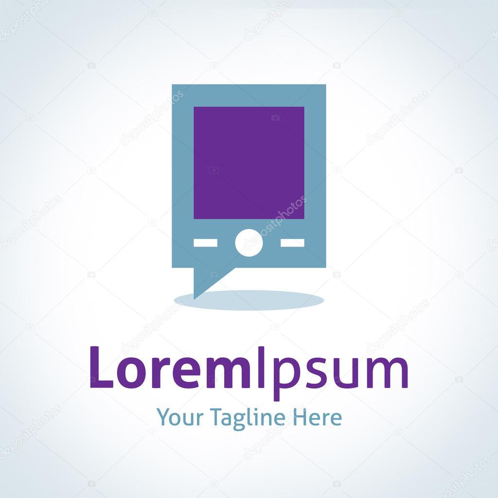 Communication technology modern time vector logo icon