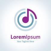 Musik, die das Weltvektor-Logo-Symbol verbindet