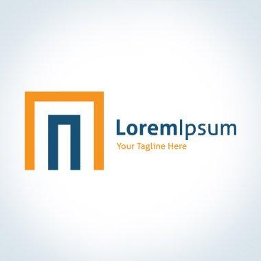 Dimension tech door of business entrepreneur system vector logo icon