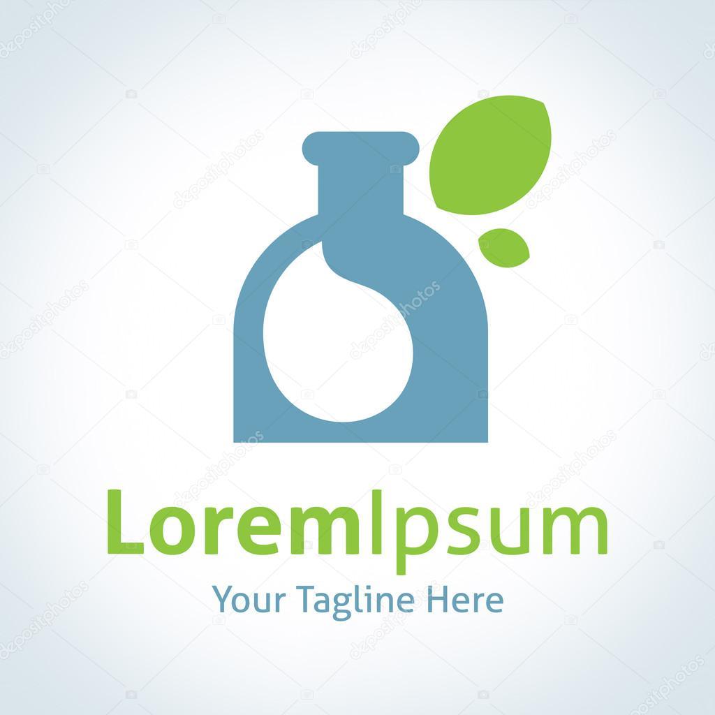 Nature health medicine care potion vector logo icon