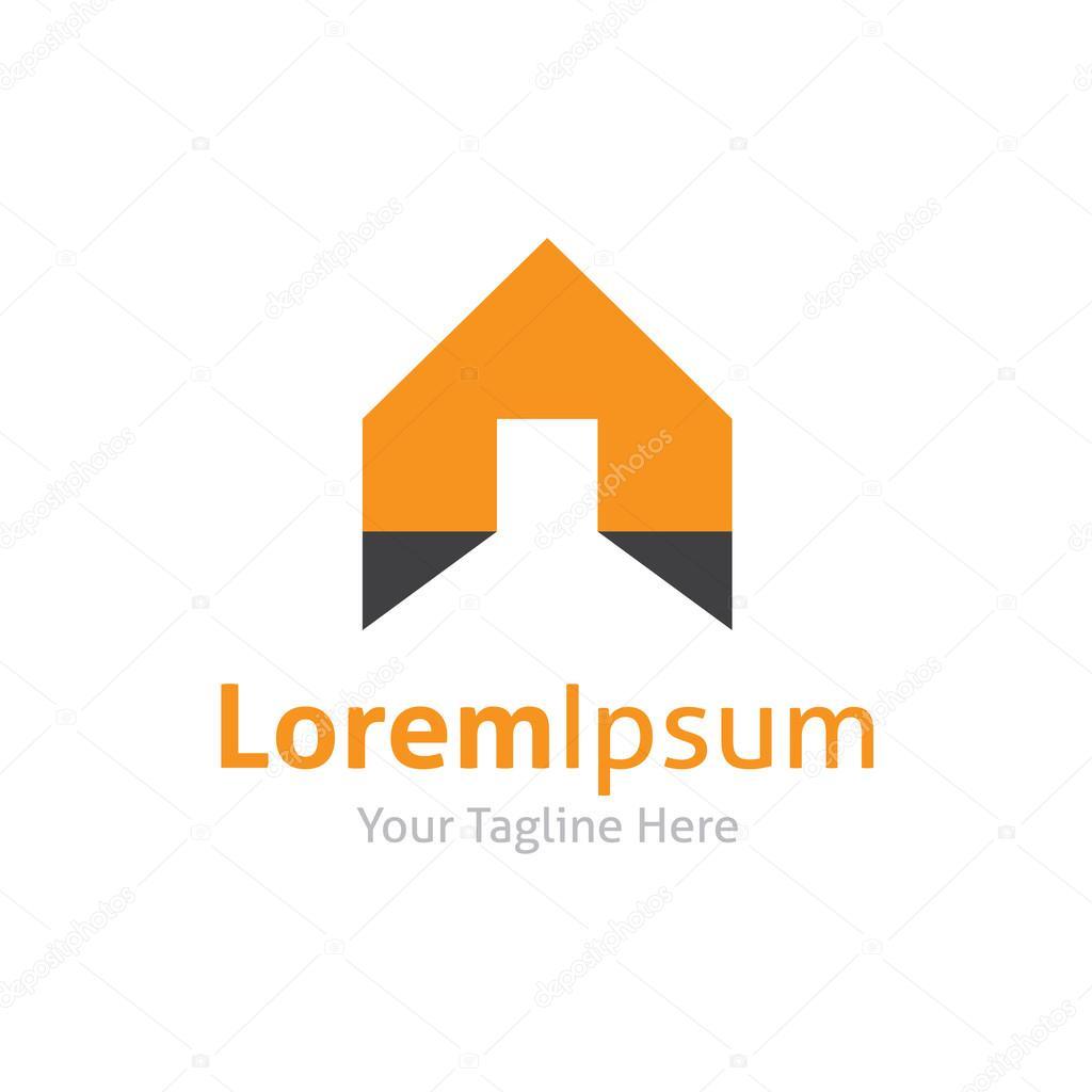 House real estate building web site construction vector logo icon