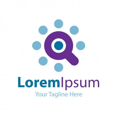 Optimum search tool icon simple elements logo