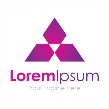 Purple future digital technology triangle element icons business logo