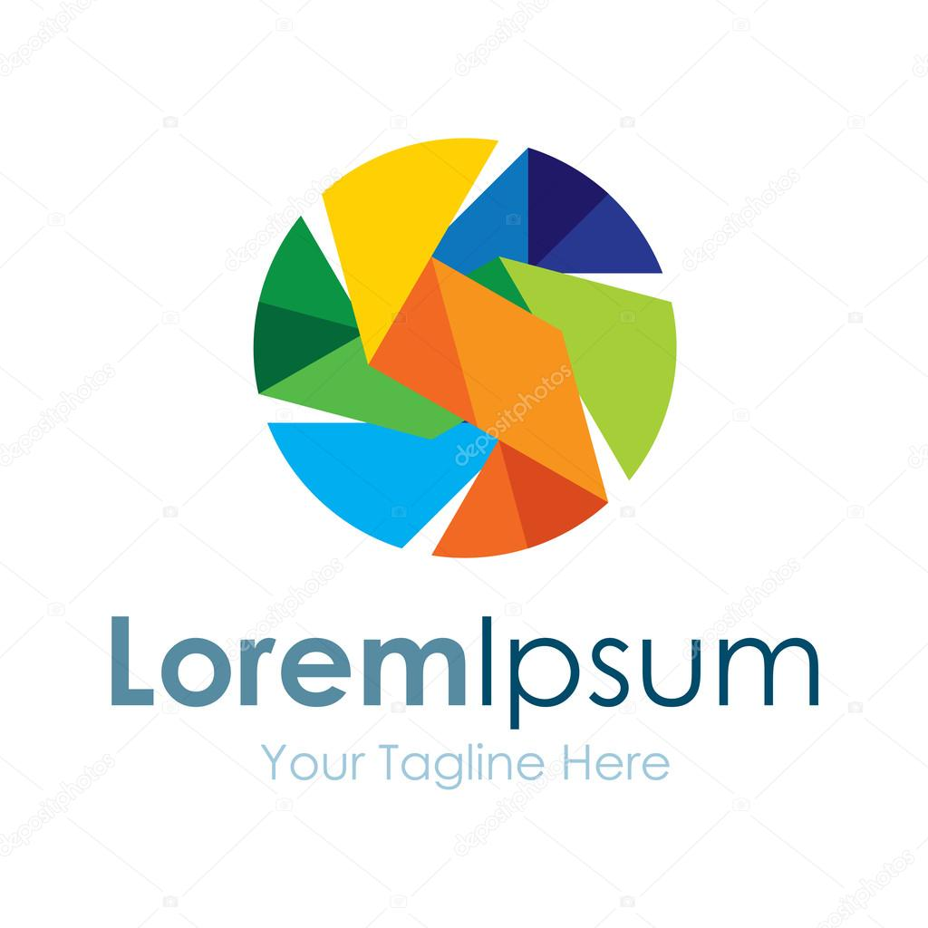 Colorful focus circle shape bussiness element icon logo