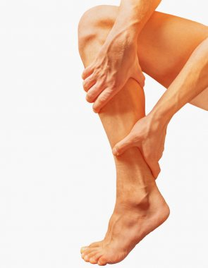 Acute pain in male calf muscle