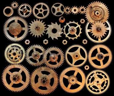 vintage mechanical gears