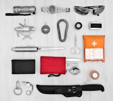 Essentials set for traveler