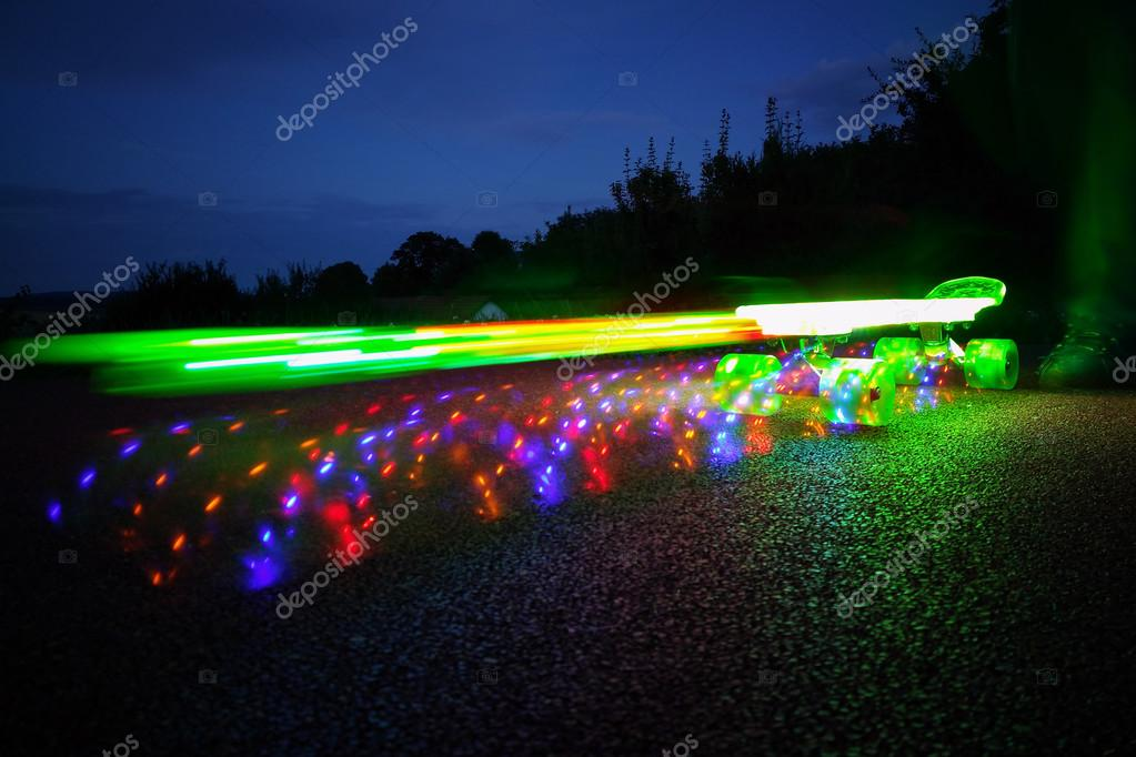 skateboard beleuchtung