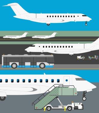 Airport vector set