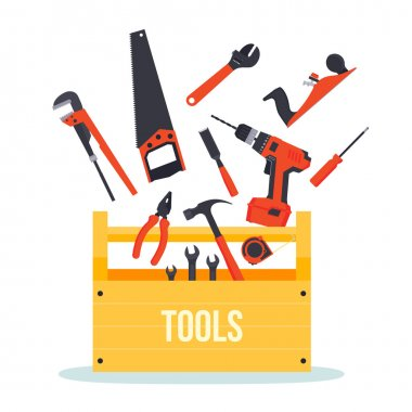 Tools box with instruments
