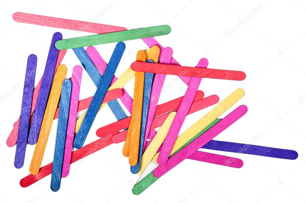 color madera palito de helado arte y antecedentes — Foto de stock ...