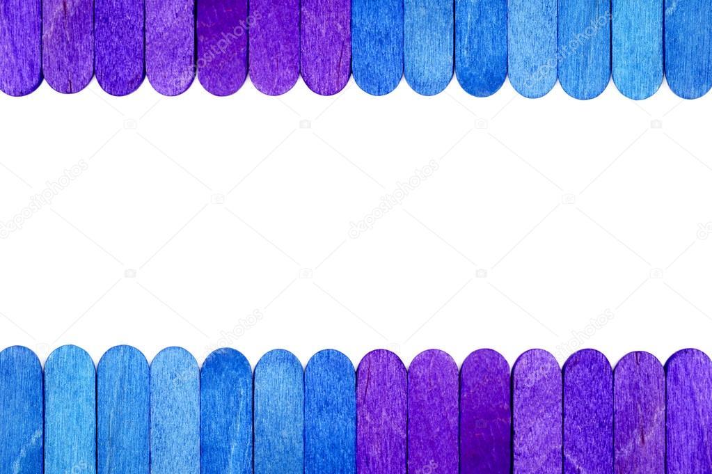 Fondo de marco de madera del palillo del helado de color — Foto de ...