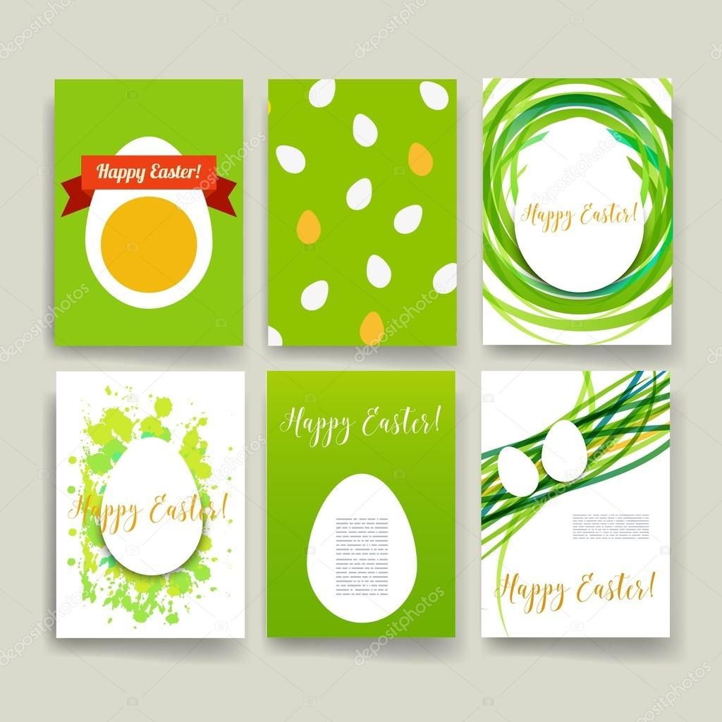 Trendy Poster Designs: Set Of Trendy Easter Posters With Hand Drawn Background