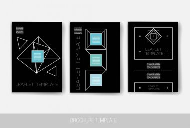 Set of Trendy Posters. Modern Hipster Style for Invitation, Business Contemporary Design. Hand Drawn Elements for Placards, Flyer clip art vector
