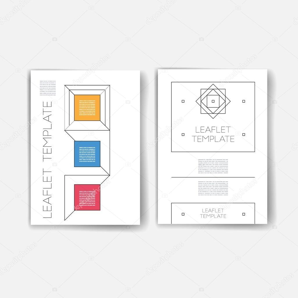 Zusammenstellung von trendigen abstrakte Karten mit mystischer Logos ...