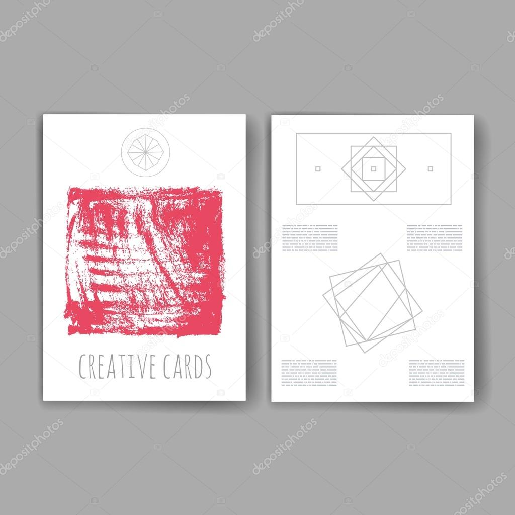 Set of Trendy Abstract Cards with Mystic Logos. Modern Hipster Style ...