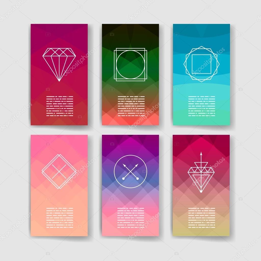 hipster moderno estilo de invitacin empresa de diseo dibujado a mano elementos para carteles flyer u vector de dikayamiau