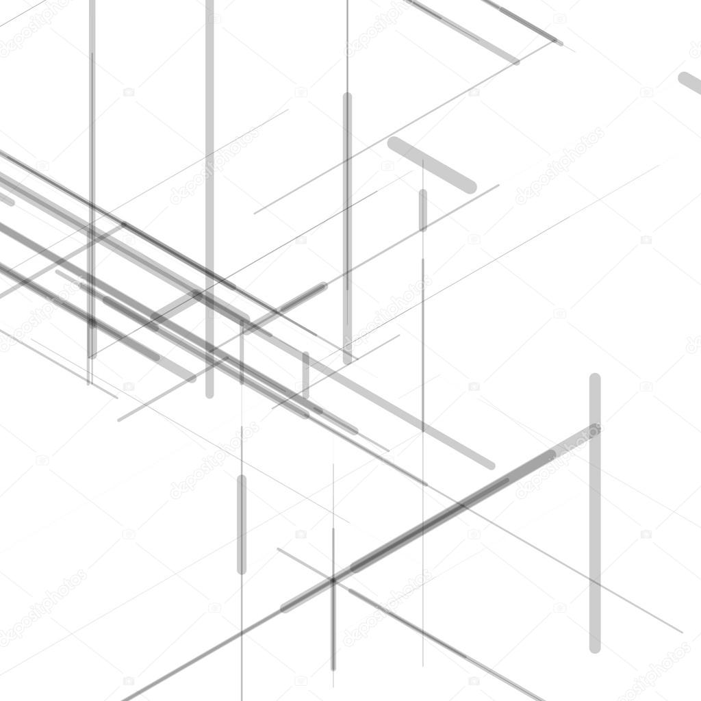 Abstract isometric computer generated 3d blueprint visualization abstract isometric computer generated 3d blueprint visualization lines background vector illustration for break through in malvernweather Choice Image