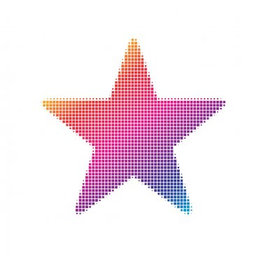 Dot pattern style star icon