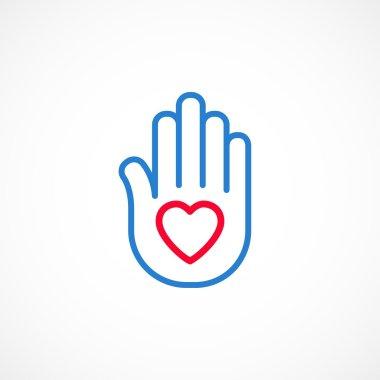 Heart on an open palm
