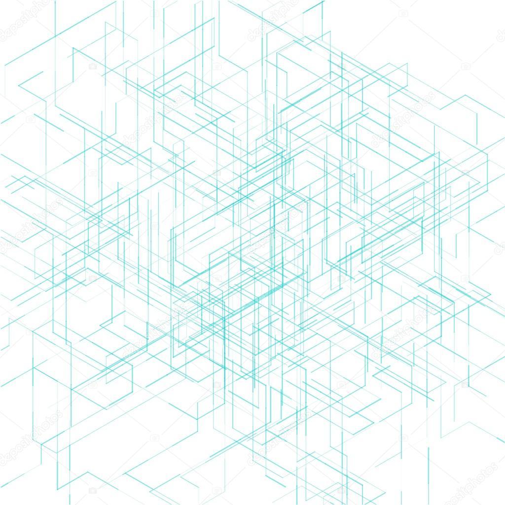 3d blueprint visualization lines background stock vector 3d blueprint visualization lines background stock vector malvernweather Choice Image