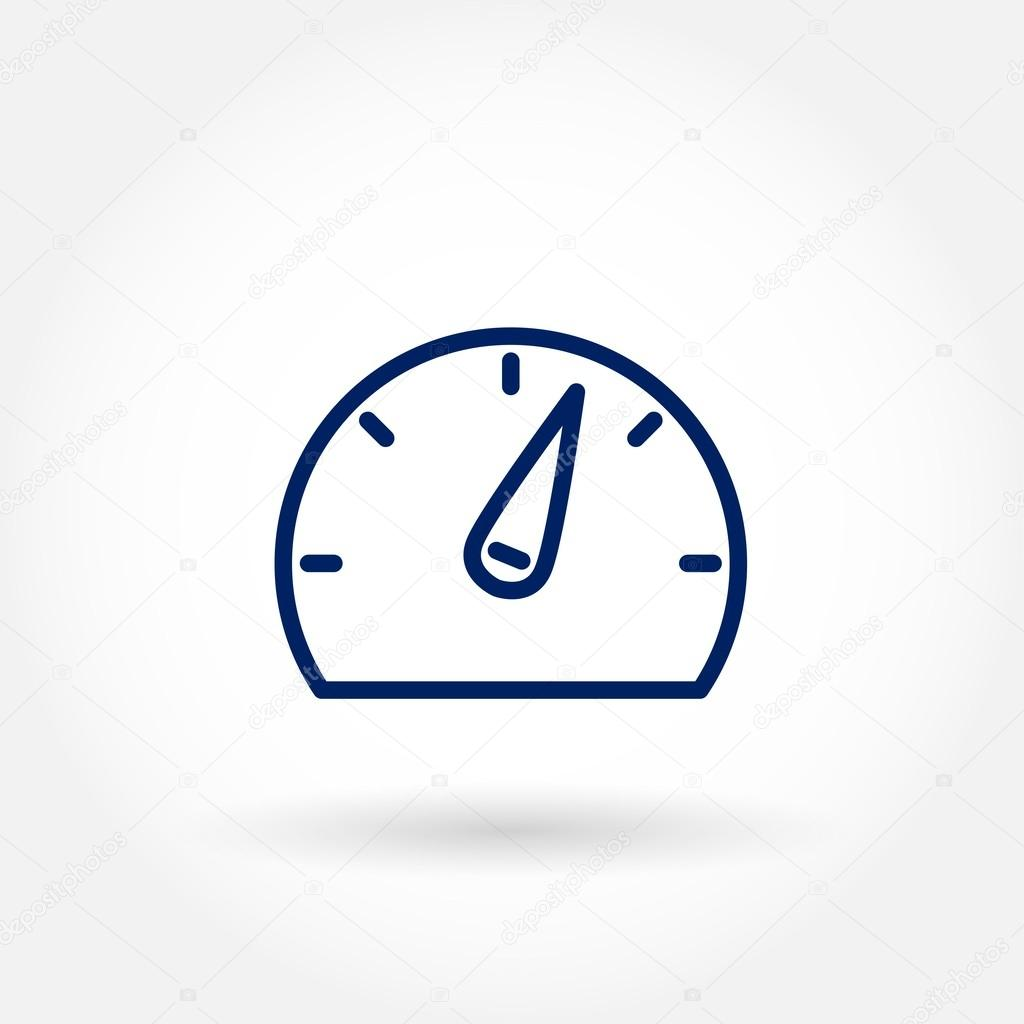 Gauge icon for mobile or web interface