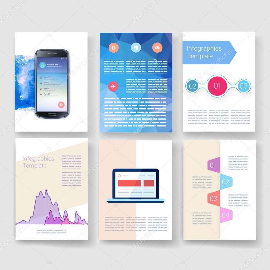 Vektor-Broschüre-Design-Vorlagen-Sammlung. Anwendungen und ...