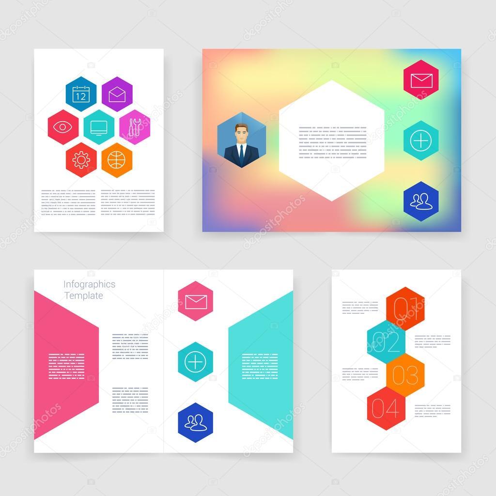 Plantillas. Colección de diseño de folleto de vector. Aplicaciones y ...