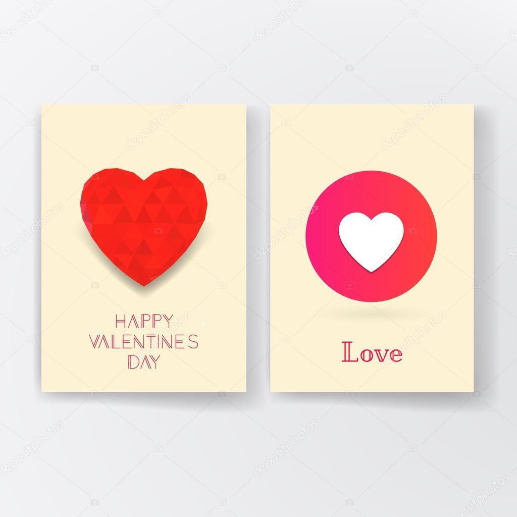 Valentinstag Einladung Typografie Poster Geometrisches Muster