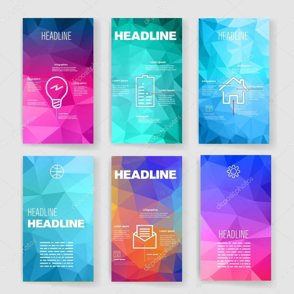 Conjunto de plantillas de diseño para Web, correo, folletos. Móviles ...
