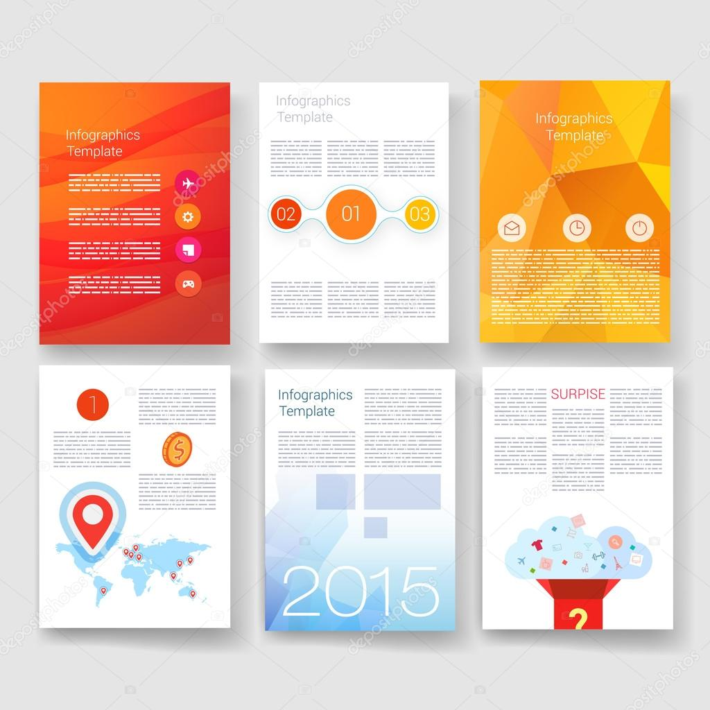 templates design set of web mail brochures mobile technology